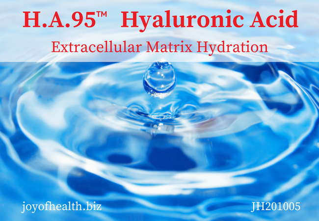 Hyaluronic acid extracellular matrix Hydration from within
